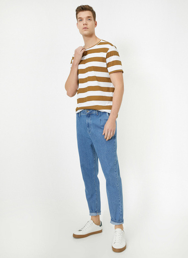 Koton Cep Detaylı Jean Pantolon Mavi